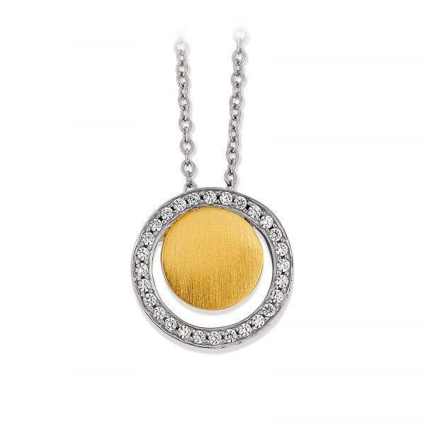Mestergull Elegant anheng i forgylt sølv med cubic zirkonia VIVENTY Anheng