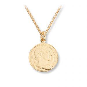 Mestergull Trendy anheng mynt i forgylt sølv GID Anheng
