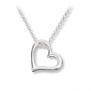Mestergull Lekkert anheng i sølv med hjerte GID Anheng