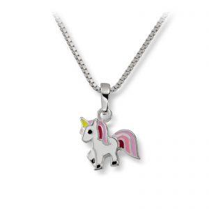 Mestergull Søtt anheng i sølv med hvit og rosa lakk MG BASIC Anheng