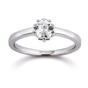 Mestergull Stilren ring i rhodinert sølv med cubic zirkonia VIVENTY Ring