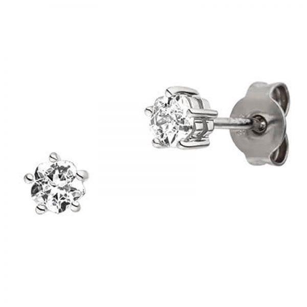 Mestergull Stilren ørepynt i rhodinert sølv med cubic zirkonia VIVENTY Ørepynt
