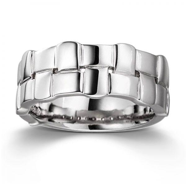 Mestergull Flott ring i rhodinert sølv VIVENTY Ring