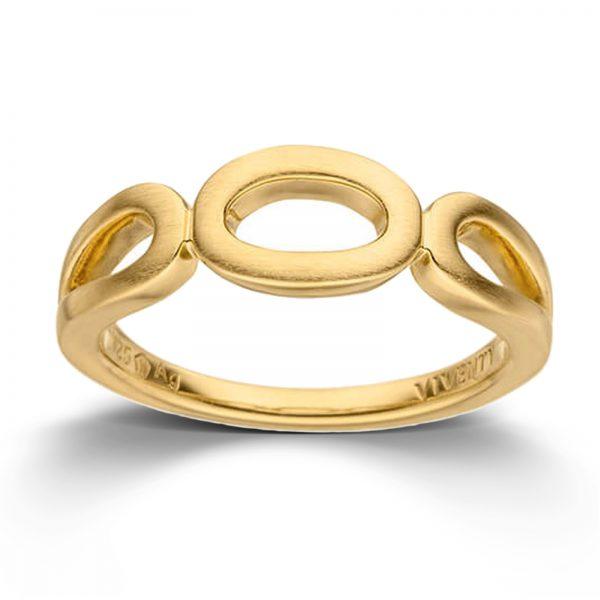 Mestergull Flott ring i forgylt sølv VIVENTY Ring