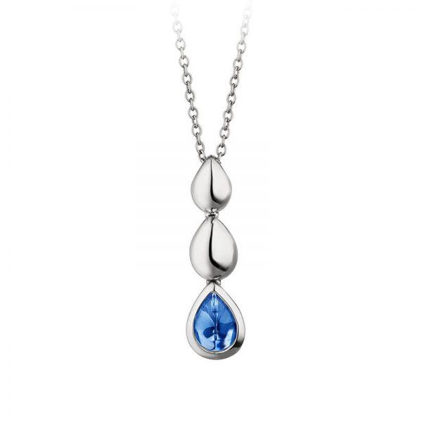 Mestergull Delikat anheng i rhodinert sølv med blå cubic zirkonia VIVENTY Anheng