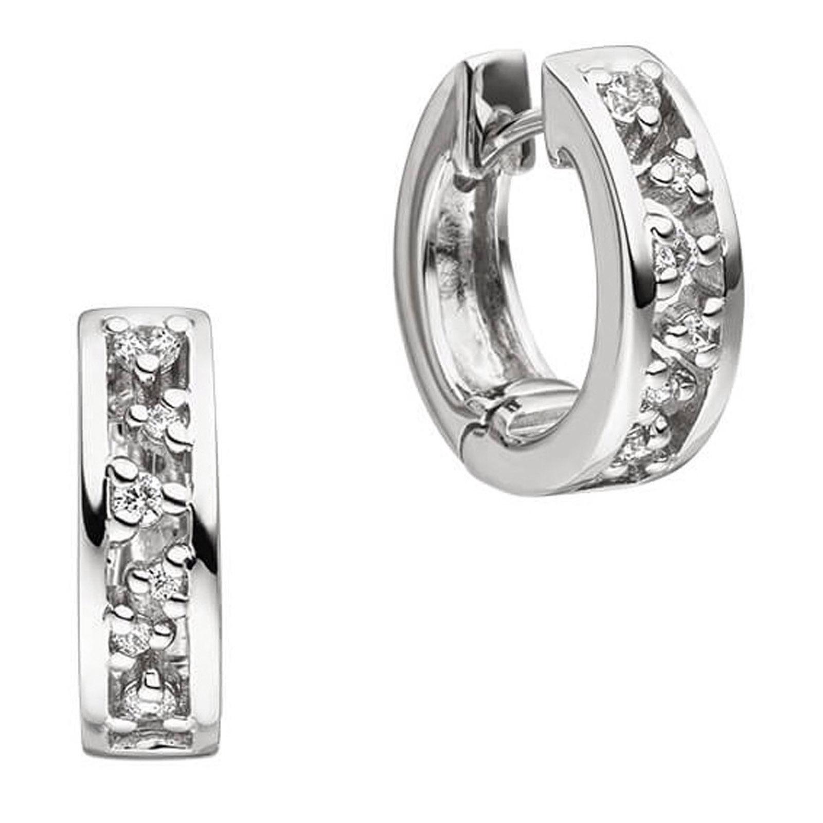 Mestergull Lekkre øreringer i rhodinert sølv med cubic zirkonia VIVENTY Ørepynt