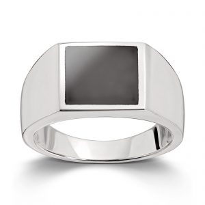 Mestergull Tøff herrering i sølv med onyx MESTERGULL Ring