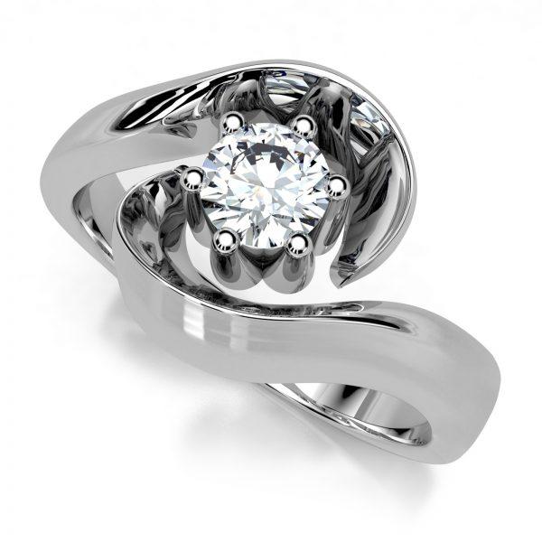 Mestergull Ring i hvitt gull 585 med diamant 0,30 ct. HSI, utviklet for kunde etter bilder av tapt ring. DESIGN STUDIO Spesialdesign Ring