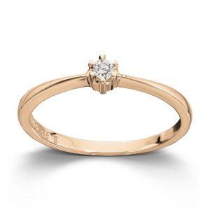 Mestergull Klondike er enstens serien med de gode prisene, et elegant design i gult eller hvitt gull. Diamanten velger du i størrelsene 0,03 ct. til 0,20 ct. KLONDIKE Ring