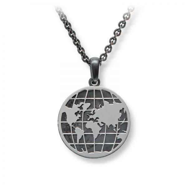 Mestergull Flott anheng i oksidert sølv - verden MESTERGULL Anheng