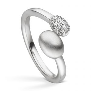 Mestergull Elegant ring i rhodinert sølv med cubic zirkonia VIVENTY Ring