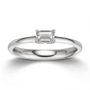 Mestergull Delikat ring i rhodinert sølv med cubic zirkonia VIVENTY Ring