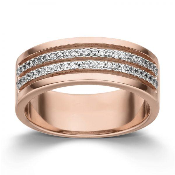Mestergull Delikat ring i rosè forgylt sølv med cubic zirkonia VIVENTY Ring