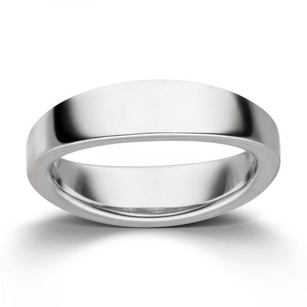 Mestergull Enkel ring i rhodinert sølv VIVENTY Ring