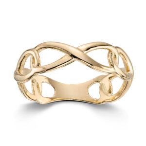 Mestergull Delikat ring i gult gull MESTERGULL Ring