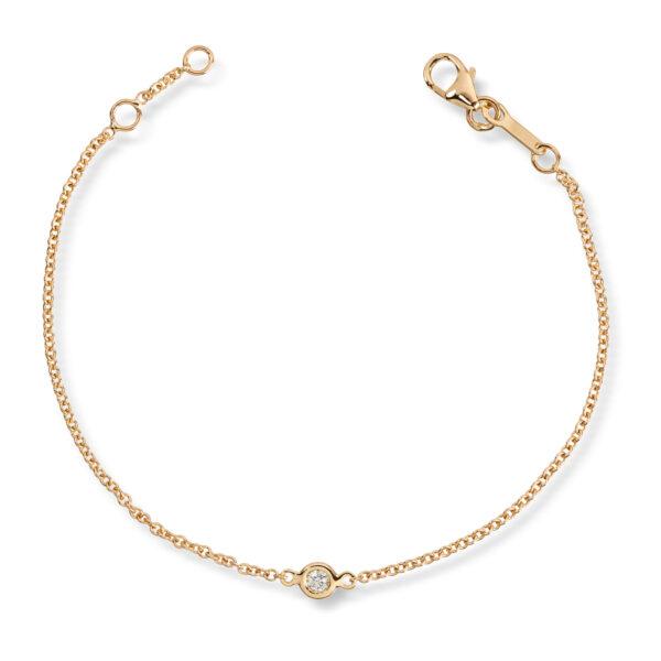 Mestergull Delikat armbånd i gult gull med diamant MG DIAMONDS Armbånd