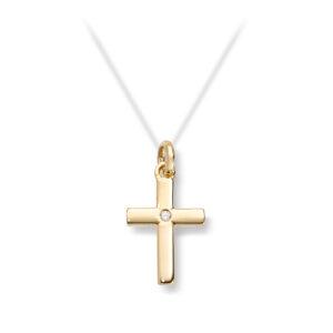 Mestergull Lekkert anheng i gult gull med diamant MG DIAMONDS Anheng