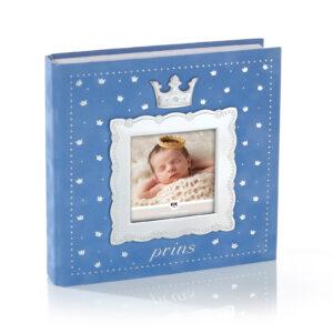 Mestergull Fotoalbum til prinsen i tinn og blå velur med plastlommer til bilder inntil 10 x 15 cm. FOR PRINSER Ramme