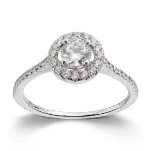 Mestergull Lekker ring i rhodinert sølv med cubic zirkonia GID Ring