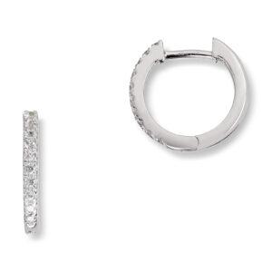 Mestergull Trendy øreringer i rhodinert sølv med cubic zirkonia GID Ørepynt