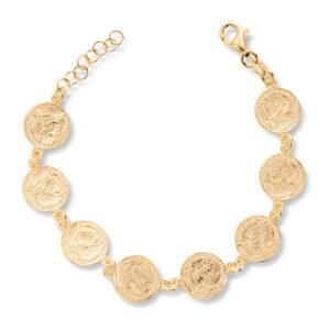 Mestergull Trendy armbånd i forgylt sølv med mynt GID Armbånd