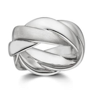 Mestergull Kraftig ring i rhodinert sølv VIVENTY Ring
