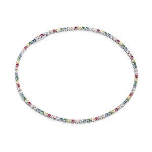 Mestergull Armbånd i sølv 925S rhodinert, med blankpolert overflate og fasettslepne flerfargede Zirkonia. SIF JACOBS JEWELLERY Ellera Armbånd