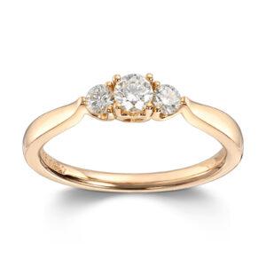 Mestergull Klassisk frieri og forlovelses ring i gult gull med diamanter MG DIAMONDS Ring