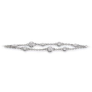 Mestergull Flott armbånd i rhodinert sølv med cubic zirkonia VIVENTY Armbånd