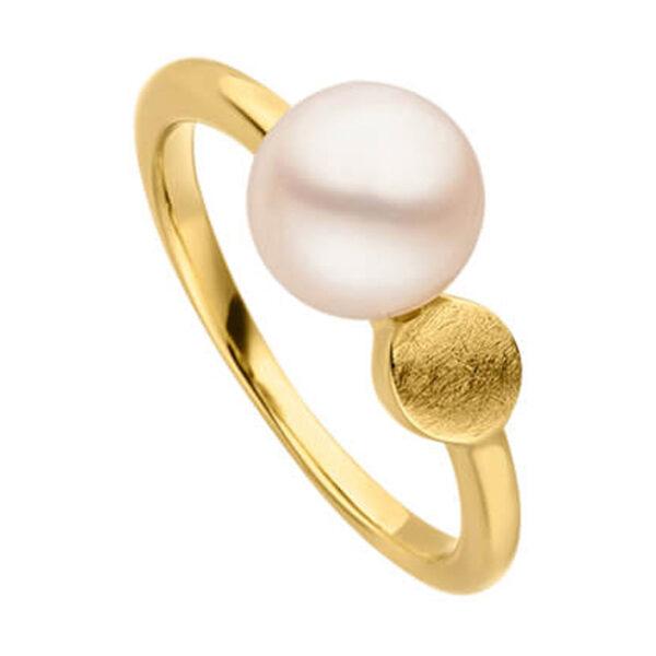 Mestergull Flott ring i forgylt sølv med ferskvannsperle VIVENTY Ring