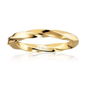 Mestergull Ring i sølv 925S forgylt med 18K gull, med blankpolert overflate SIF JACOBS JEWELLERY Ferrara Ring