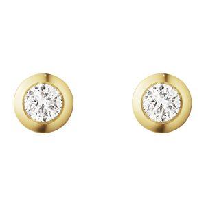 Mestergull Aurora Ørepynt i 18 K Hvitt gull med diamanter GEORG JENSEN Aurora Ørepynt