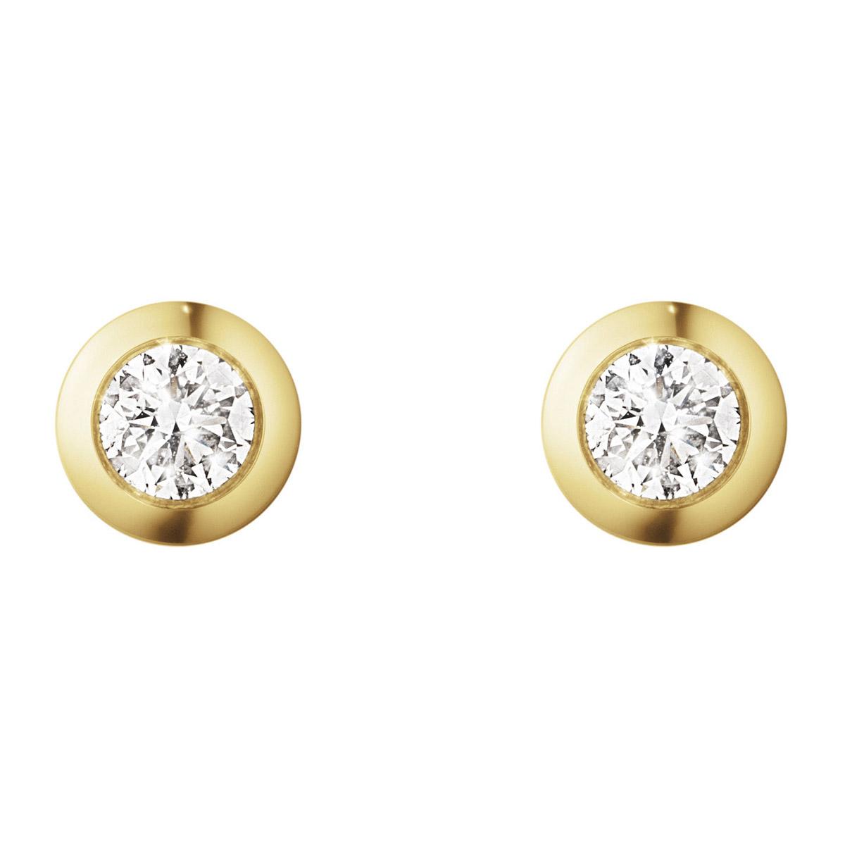 Mestergull Aurora ørepynt i 18kt. gult gull med diamanter GEORG JENSEN Aurora Ørepynt