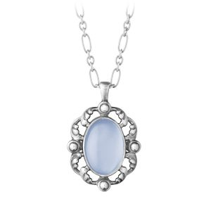 Mestergull Heritage Anheng i sølv med blå calsedon GEORG JENSEN Heritage Anheng