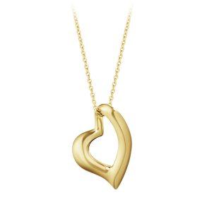 Mestergull Heart anheng i 18kt. gult gull GEORG JENSEN Heart Anheng
