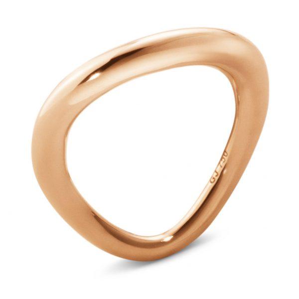 Mestergull Offpring ring i 18kt. rosé gull GEORG JENSEN Offspring Ring