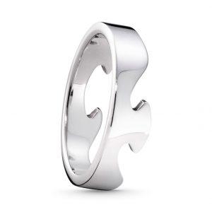 Mestergull Fushion End Ring i 18 K Hvitt Gull GEORG JENSEN Fusion Ring