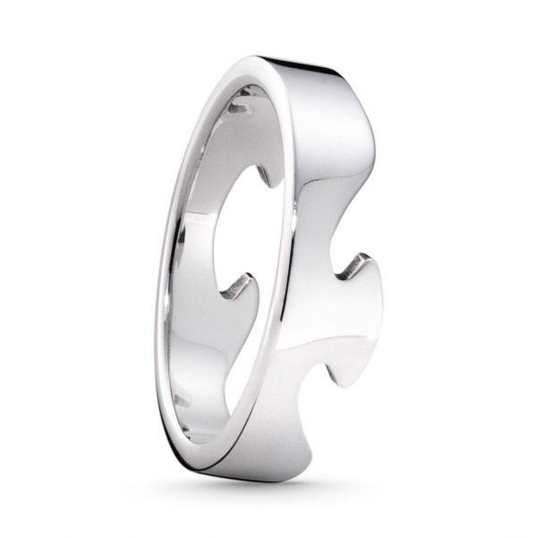 Mestergull Fushion ende ring i 18kt. hvitt gull GEORG JENSEN Fusion Ring