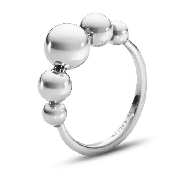 Mestergull Moonlight Grapes Ring i sølv GEORG JENSEN Grape Ring