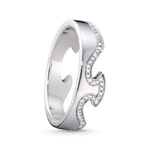 Mestergull Fushion ende ring i 18kt. hvitt gull og diamanter GEORG JENSEN Fusion Ring