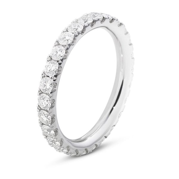 Mestergull Aurora ring i 18kt. hvitt gull med diamanter GEORG JENSEN Aurora Ring