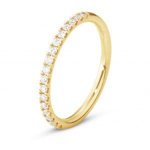 Mestergull Aurora ring i 18kt. gult gull med diamanter GEORG JENSEN Aurora Ring