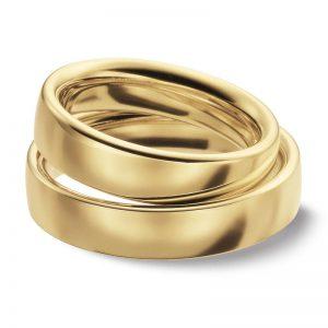 Mestergull Klassiske ringer i gult gull i profil 4. En av bestselgerne i det norske markedet. Prisen nedenfor er pr. ring. LYKKERINGENE Eksempel Ring