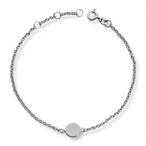 Mestergull Flott armbånd i rhodinert sølv GID Armbånd
