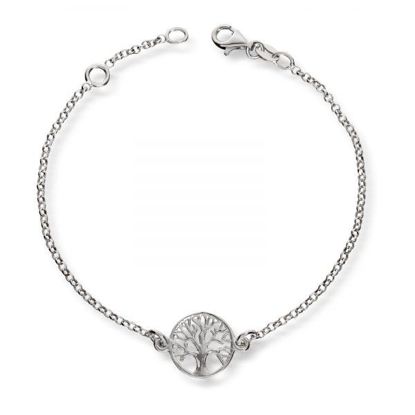 Mestergull Fint armbånd i sølv livets tre GID Armbånd