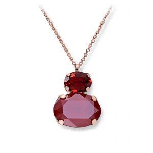 Mestergull Lekkert anheng i rosèforgylt sølv med rød mix av swarovski krystaller GID Anheng