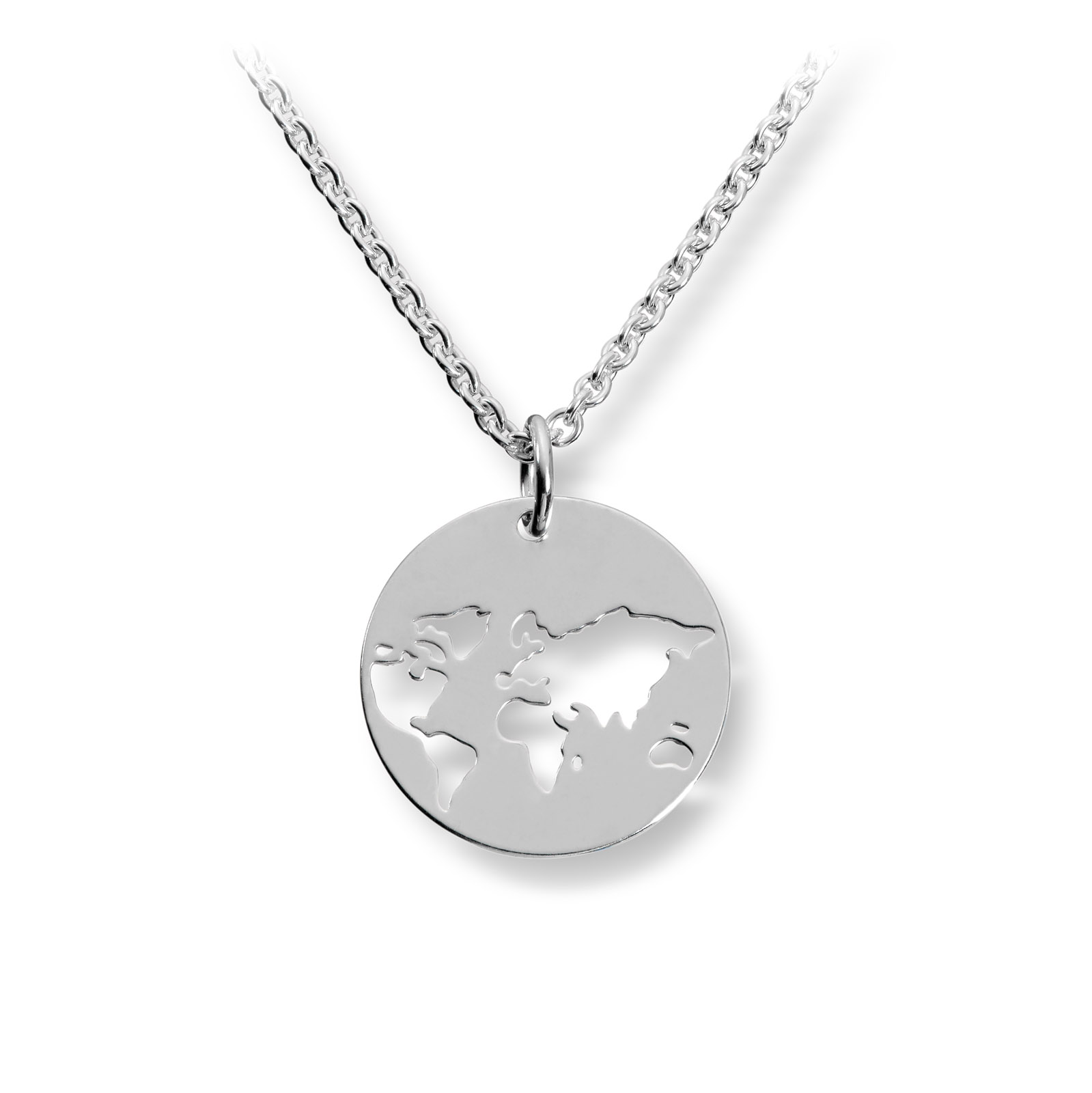 Mestergull Trendy verdenskart anheng i sølv GID Anheng