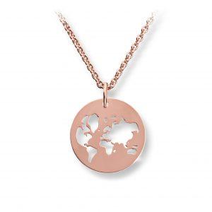 Mestergull Trendy verdenskart anheng i roseforgylt sølv GID Anheng