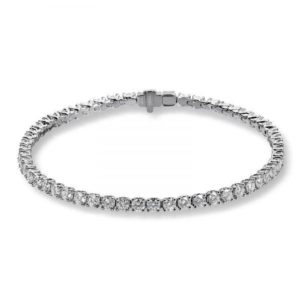 Mestergull Tennisarmbånd i hvitt gull med 55 diamanter à 0,08 ct. MG DIAMONDS Armbånd