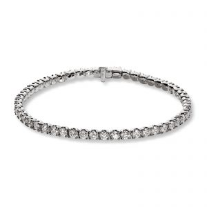 Mestergull Tennisarmbånd i hvitt gull med 53 diamanter totalt 5,04 ct. MG DIAMONDS Armbånd